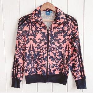 ADIDAS Pink/Blue Laurel Track Jacket, Size Small